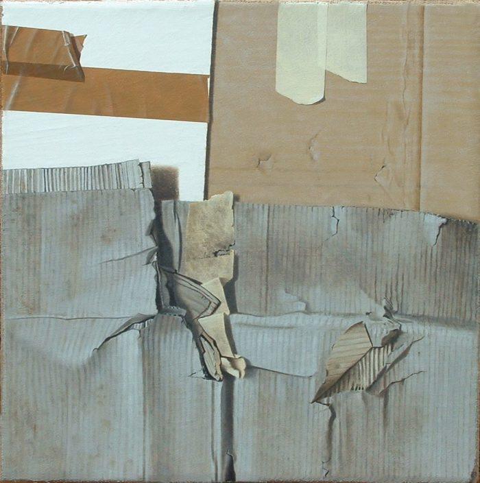Clochard, 2011, olio su tela 50 x 50