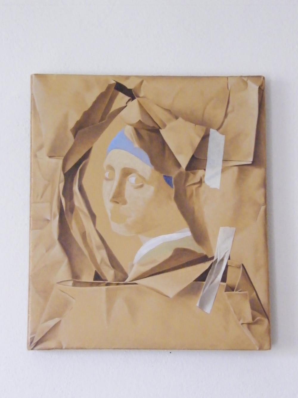 Furto d'artista n°3, 2012, olio su tela cm 39 x 45