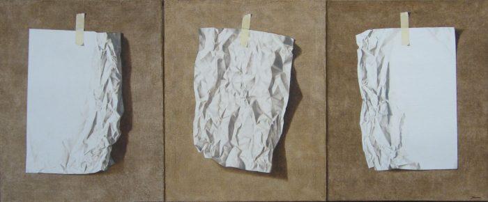 Life, 2009, olio su tela 100 x 240