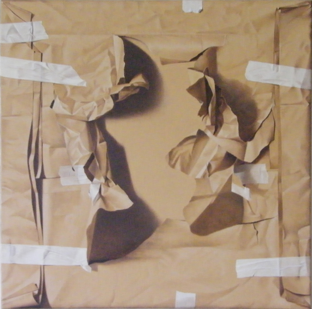 Assenza, 2013, Olio su tela, 80 x 80 cm