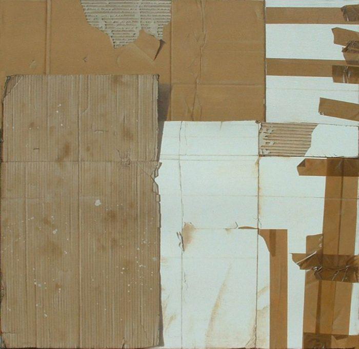 Boxes n°2, 2011, Olio su tela, 100 x 100 cm