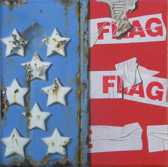 Flag, 2015, Olio su tela, 30 x 30 cm