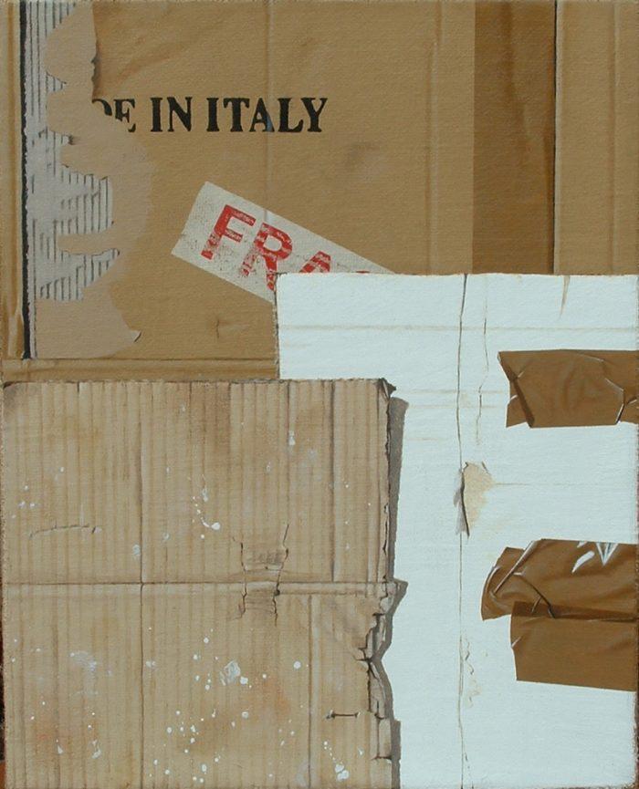 Fragile, 2008, olio su tela, cm 40 x 50