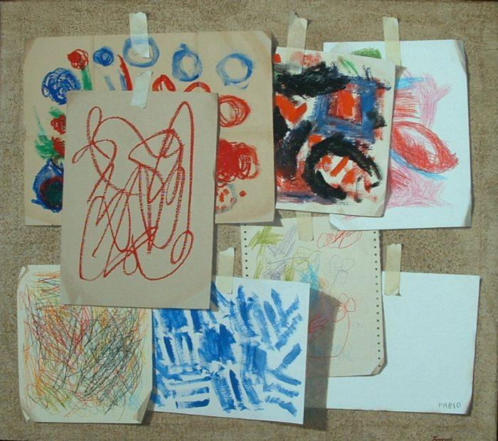 Impression, 2009, olio e pastelli a cera su tela, cm 80 x 90
