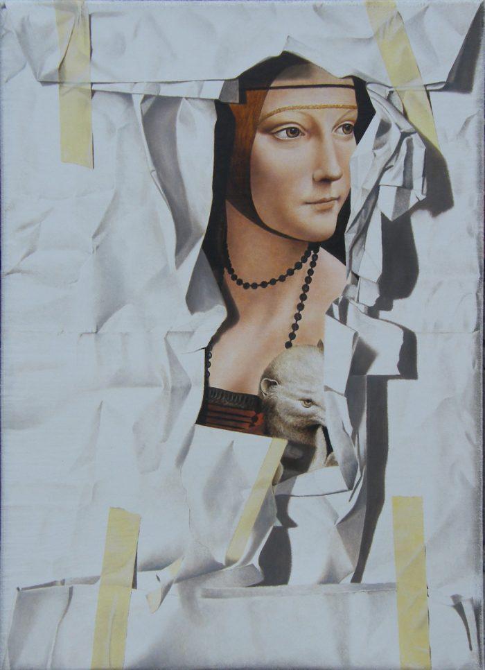 La dama con l'ermellino, 2013, Olio su tela, 40 x 54,5 cm