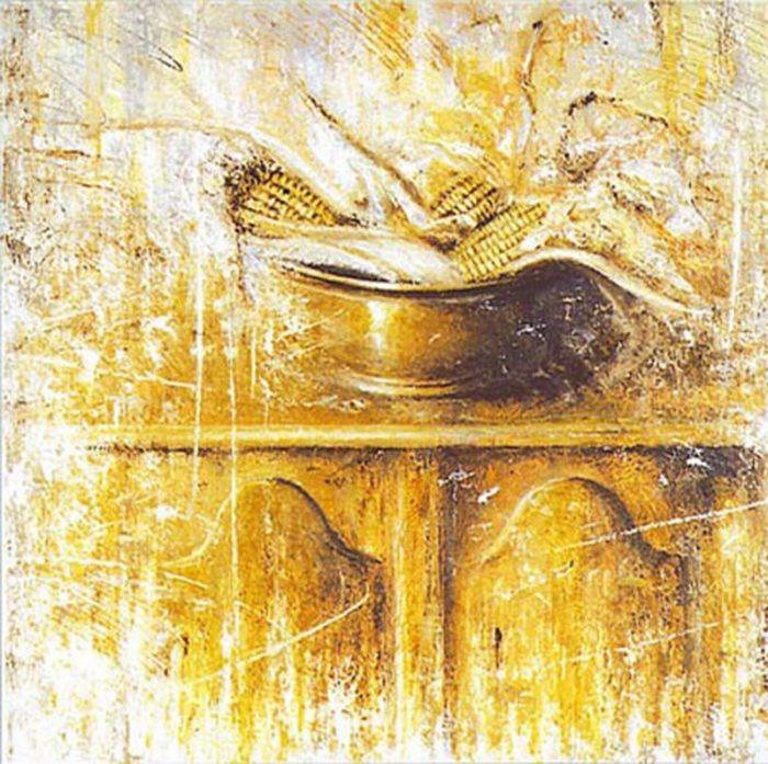 Le pannocchie 1996, olio su tela, cm. 60 x 60
