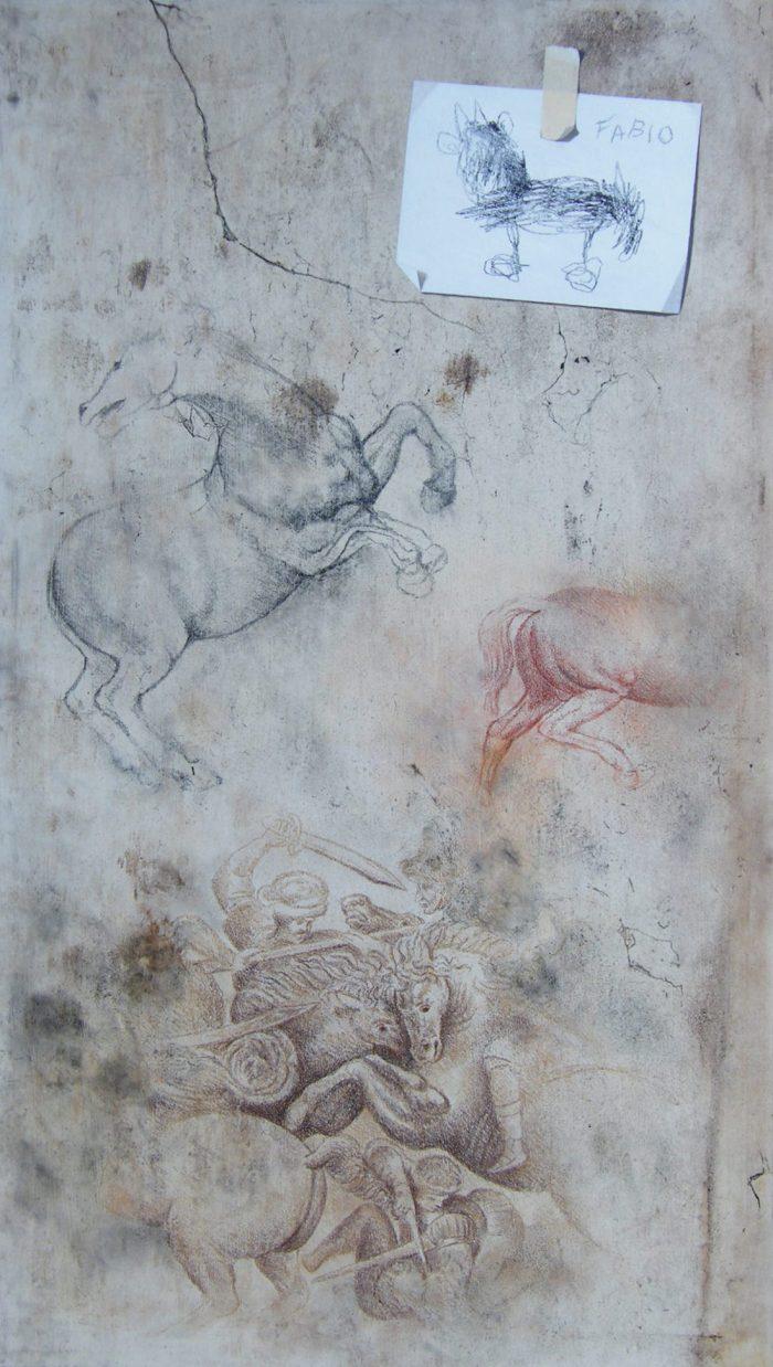 Recupero n°1, 2010, Olio su tavola, 57 x 100 cm