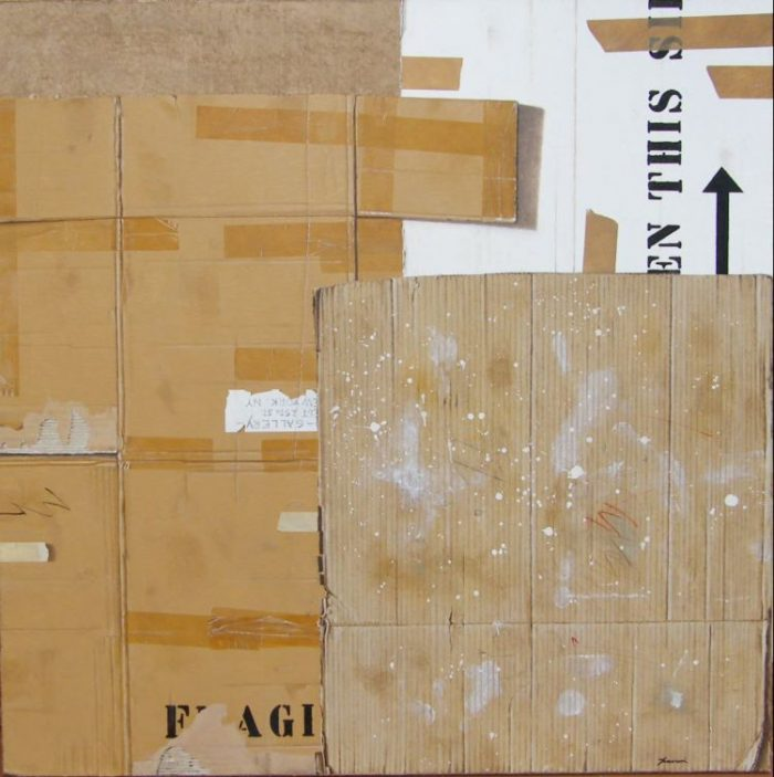 Boxes, 2009, Olio su tela, 120 x 120 cm
