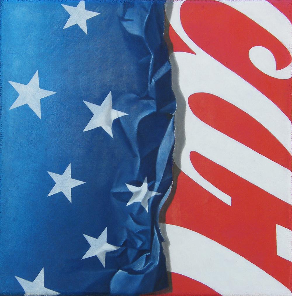 CocaCola e Baci, 2015, Olio su tela, 30 x 30 cm