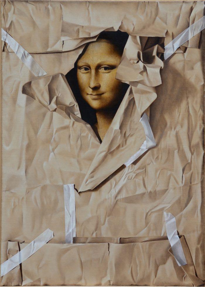 Furto d'artista n°2, 2012, olio su tela 50x70