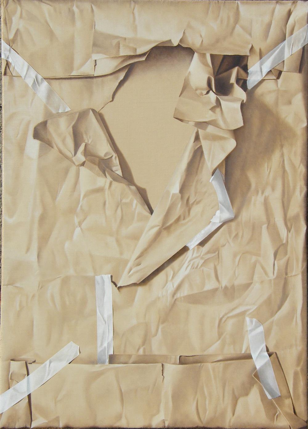 Furto d'artista n°2, 2012, Olio su tela, 50 x 70 cm