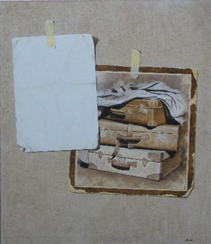 L'incontro, 2008, olio su tela, cm 140 x 130