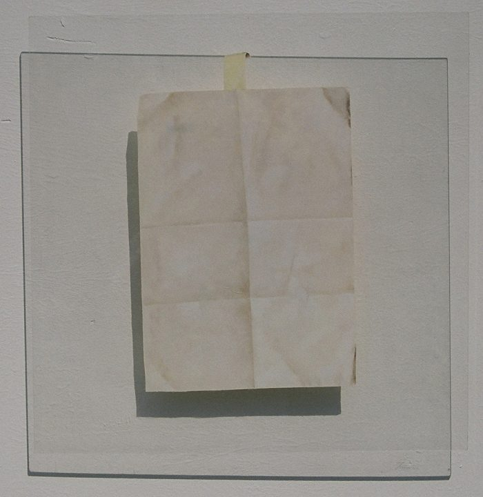 Attachment, 2006, olio su plexliglass, cm. 50 x 50