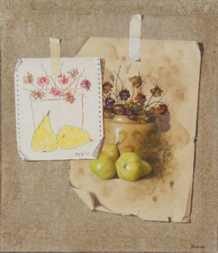 Comparison, 2007, olio e pastelli a cera su tela, 60 x 70.jpg