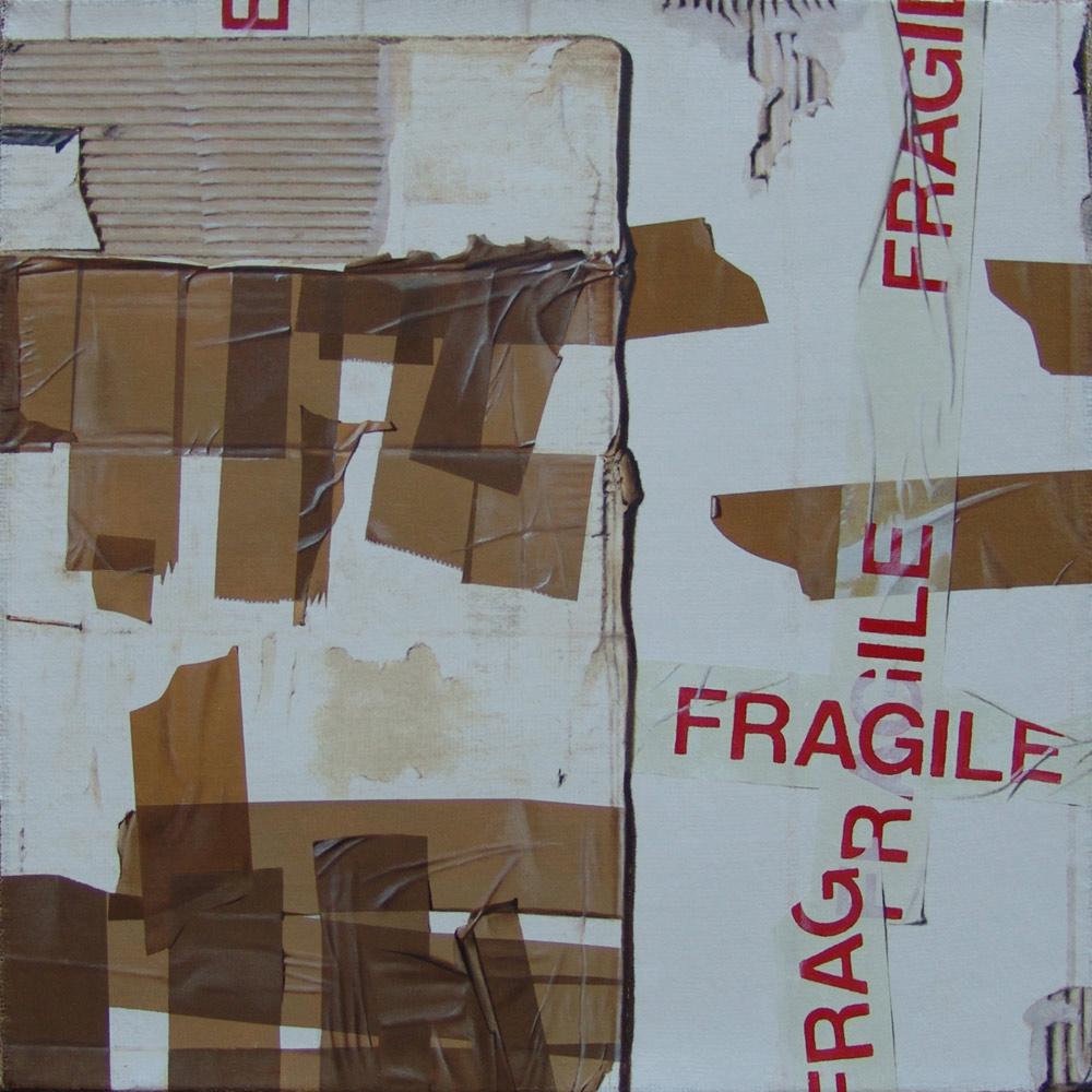 Fragile, 2014, Olio su tela, 50 x 50 cm