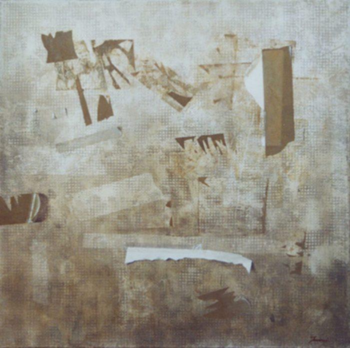 Frammento urbano, 2006, olio su tela, cm. 60 x 60