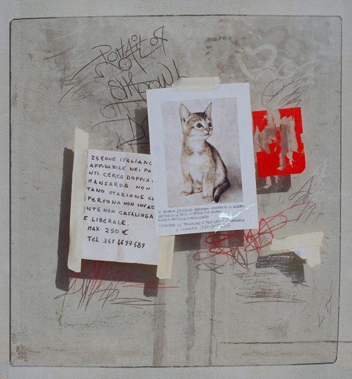 Help, 2006, olio su plexliglass, cm. 60 x 70