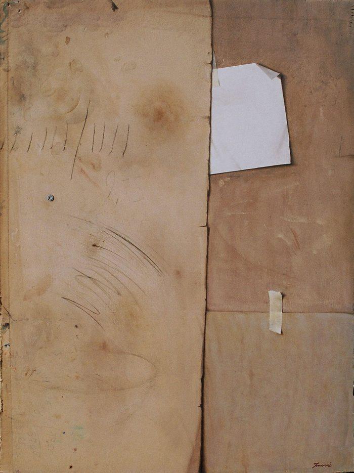 Il mediatore, 2005, olio su cartone, cm. 74 x 100