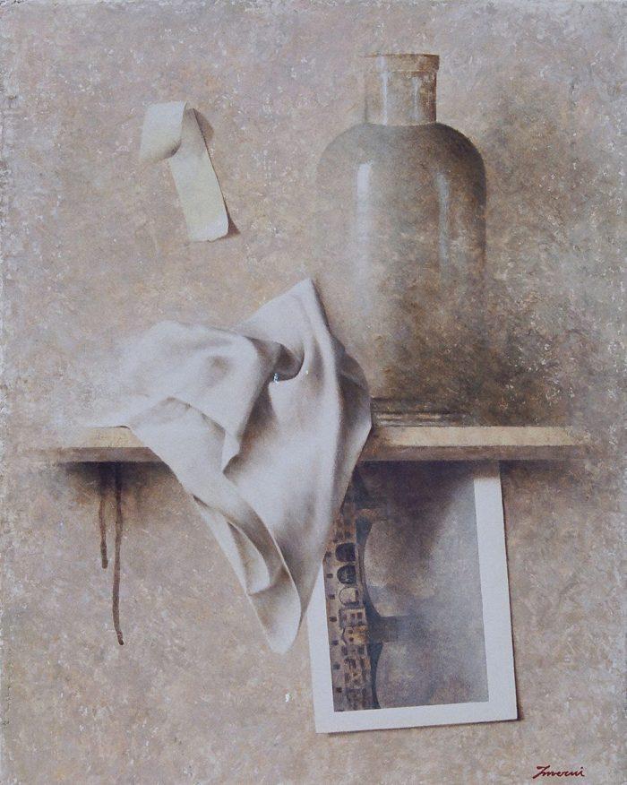 Invito al viaggio, 2006, olio su tela, cm. 40 x 50