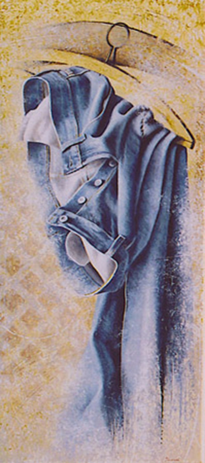 Jeans 2004, olio su tela, cm. 40 x 90