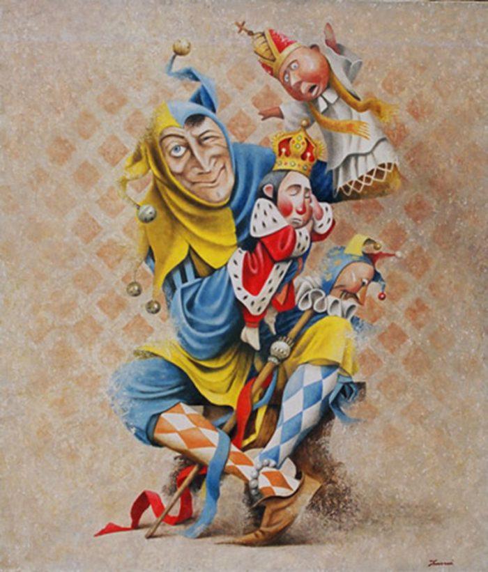 Joker 2006, olio su tela, cm. 70 x 80