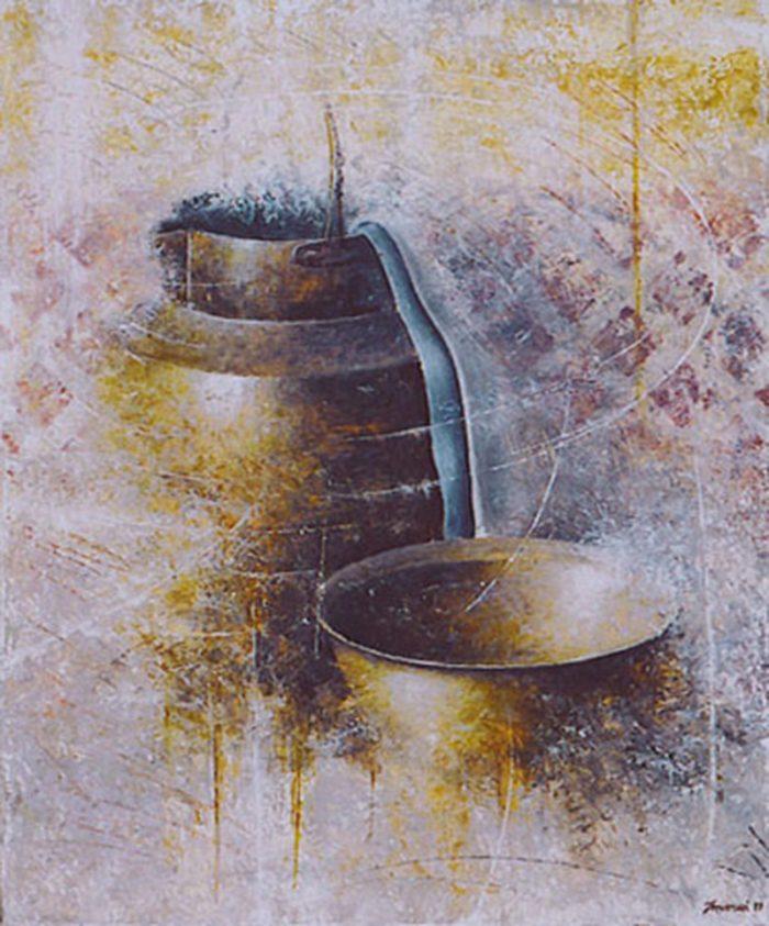 La mezzina di rame 1998, olio su tela, cm. 50 x 60