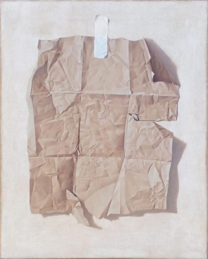 L'attesa, 2016, Olio su tela, cm 80 x 100