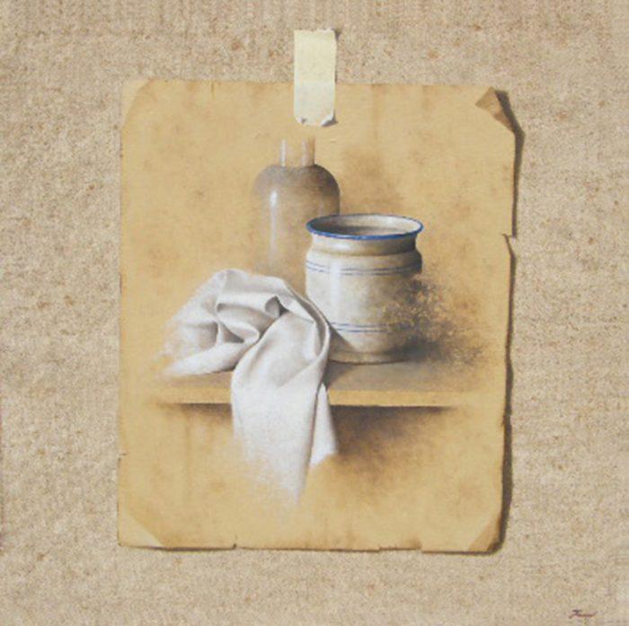 Luce silente, 2008, olio su tela, cm. 80 x 80