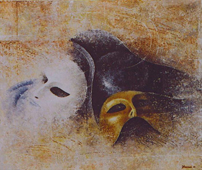 Mercoledì delle ceneri 1998, olio su tela, cm. 60 x 50