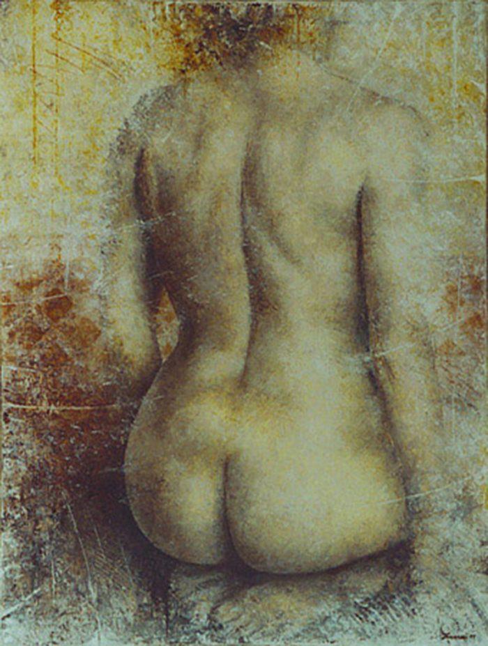 Nudo 1998, olio su tela, cm. 60 x 80