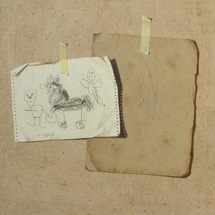 Preludio, 2007, olio e pastello a cera su tela, cm. 80 x 80