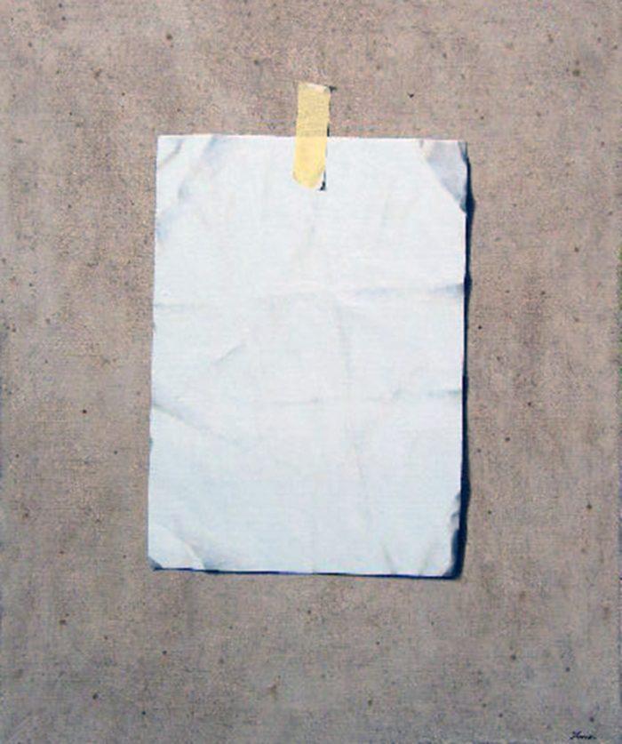 Presenza, 2007, olio su tela, cm. 100 x 120