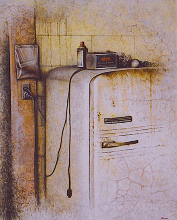 Ronnie's ice house 2003, olio su tela , cm. 80 x 100