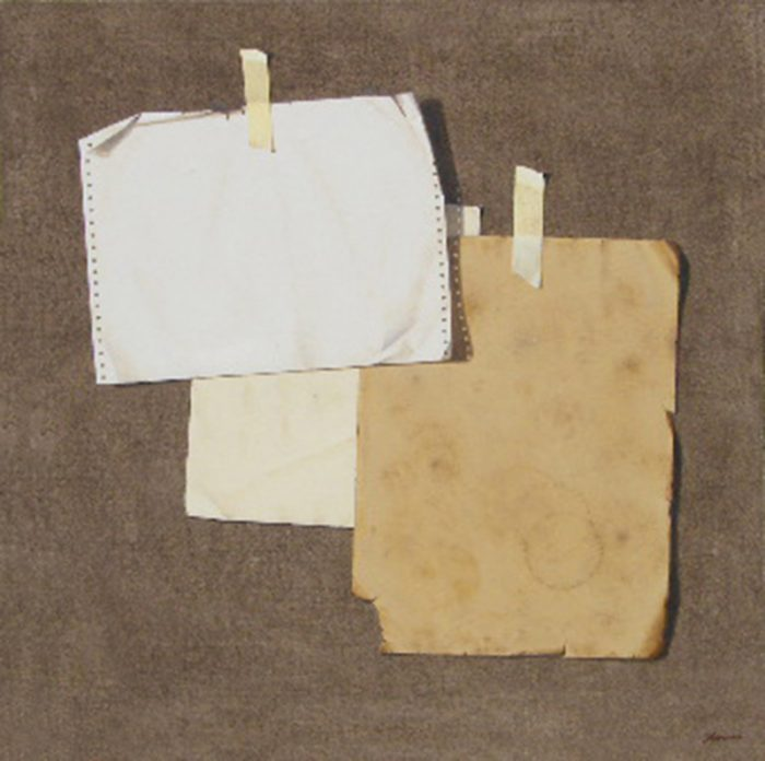 Tritono, 2008, olio su tela, cm. 80 x 80