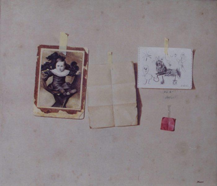 Vorrei raccontare, 2006, olio su tela, cm. 150 x 130