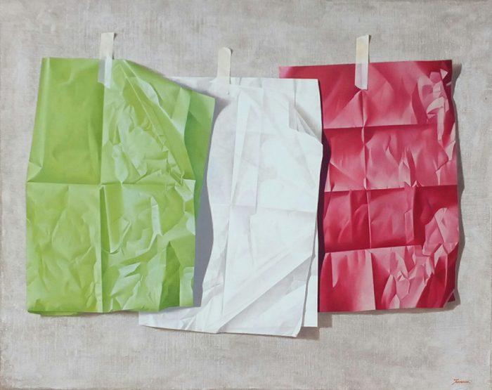 Buongiorno Italia, 2020, olio su tela, cm. 80 x 100