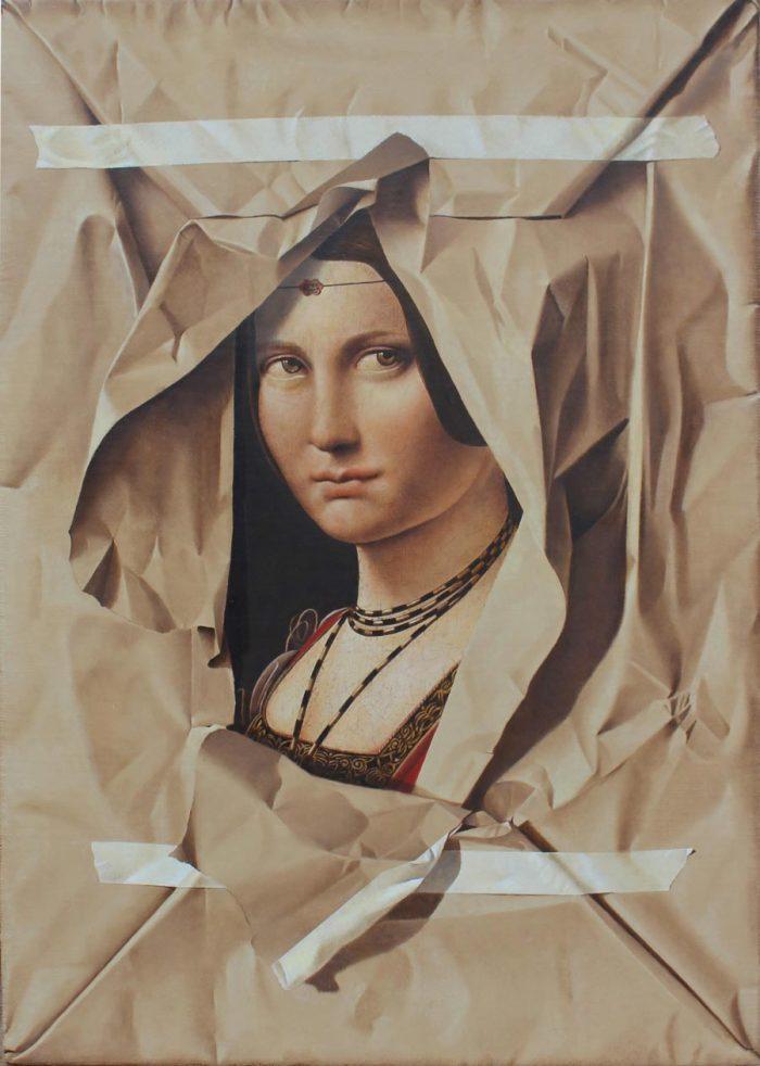 La belle ferronière, 2019, Olio su tela, cm. 46 x 64