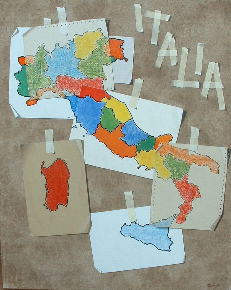 Res publica precaria, 2010, Olio e pastelli su tela, cm. 80 x 100