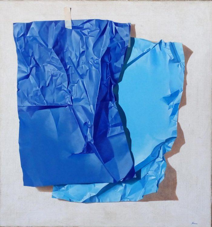 Genesi, 2018, Olio su tela, cm. 86 x 92